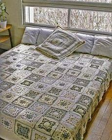 пэтчворк пледа для дачной кровати